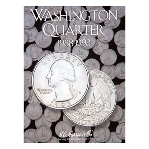 Washington, Part Four, Starting 1988-1998 H.E. Harris Coin Folder - Centerville C&J Connection, Inc.