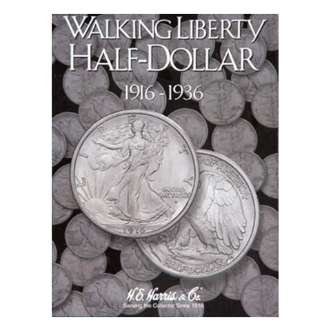 Liberty Walking, Part One, 1916 - 1936 H.E. Harris Coin Folder - Centerville C&J Connection, Inc.