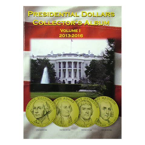 Presidential Dollar Collector's Album Volume 1 2013 -2016  H.E. Harris Coin Folder - Centerville C&J Connection, Inc.