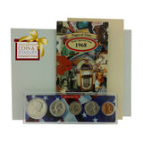 1968 Year Coin Set & Greeting Card : 49th Birthday or 49th Anniversary Gift - Centerville C&J Connection, Inc.