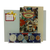 1969 Year Coin Set & Greeting Card : 48th Birthday or 48th Anniversary Gift - Centerville C&J Connection, Inc.