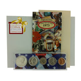 1973 Year Coin Set & Greeting Card : 44th Birthday or 44th Anniversary Gift - Centerville C&J Connection, Inc.