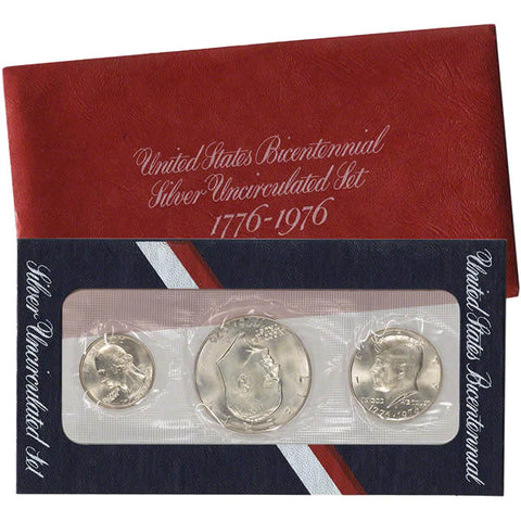 1976 (3 pc) Silver Uncirculated Coin Set - Centerville C&J Connection, Inc.