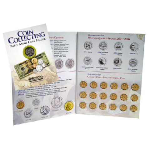 Merit Badge Folder Whitman Coin Folder - Centerville C&J Connection, Inc.