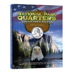National Park Quarters 4 Panel Cushioned Folder 2010 - 2021 Whitman Coin Folder - Centerville C&J Connection, Inc.