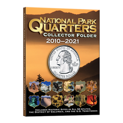 4 Color National Park Quarters Folder 5 3/4 x 7 3/4-1MM Whitman Coin Folder - Centerville C&J Connection, Inc.