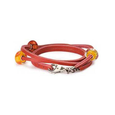 Leather Bracelet, Red 14.2 Inch - Trollbeads - Centerville C&J Connection, Inc.
