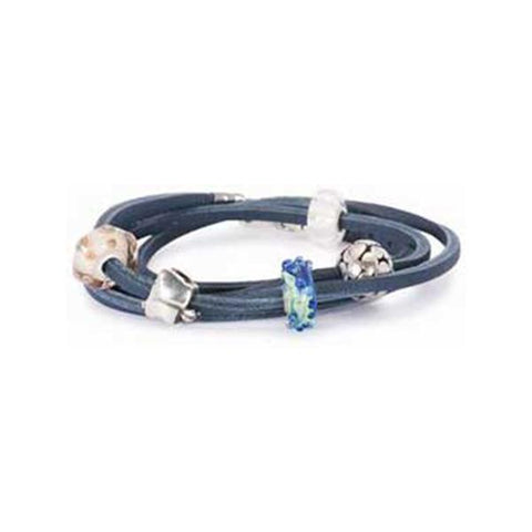 Leather Bracelet, Blue 14.2 Inch - Trollbeads - Centerville C&J Connection, Inc.
