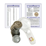 Buffalo Nickel Starter Collection Kit, One Roll of Full Date Buffalo/Indian Nickels [40 Coins] Magnifier and Checklist, (3 Items) Great Start for Beginner Collectors - Centerville C&J Connection, Inc.