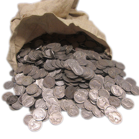 1000 Pieces of NO Date Buffalo or Indian Nickels - Centerville C&J Connection, Inc.