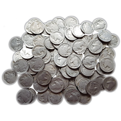 100 Pieces of NO Date Buffalo or Indian Nickels - Centerville C&J Connection, Inc.