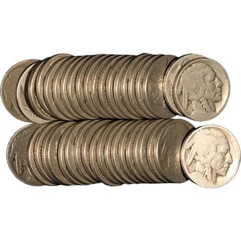 One Roll of NO Date Buffalo/Indian Nickels [40 Coins] - Centerville C&J Connection, Inc.