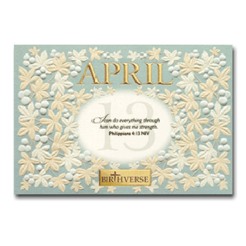 April BIRTHVERSE Bible Birthday Greeting Card - Centerville C&J Connection, Inc.