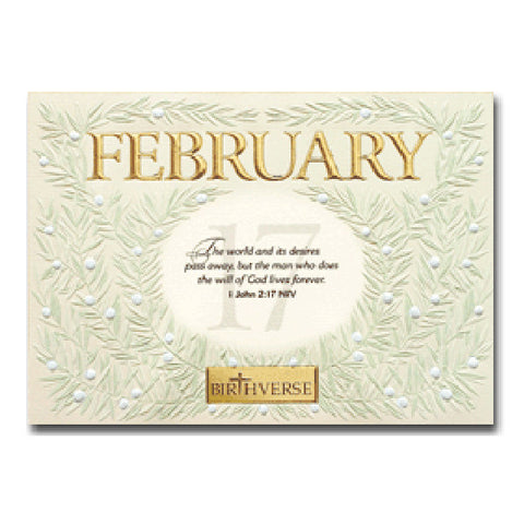 February BIRTHVERSE Bible Birthday Greeting Card - Centerville C&J Connection, Inc.