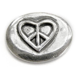Basic Spirit Heart Peace Sign / Grow Peace Pocket Token - Centerville C&J Connection, Inc.
