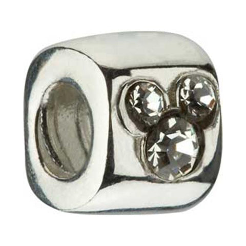 Disney Silver CZ Mickey Bead - Centerville C&J Connection, Inc.