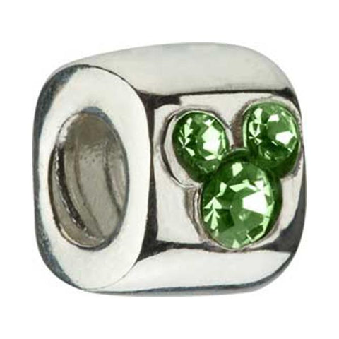 Disney Silver Green CZ Mickey Bead - Chamilia - Centerville C&J Connection, Inc.
