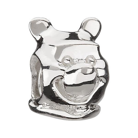 Disney Winnie Pooh Head Silver Bead - Chamilia - Centerville C&J Connection, Inc.
