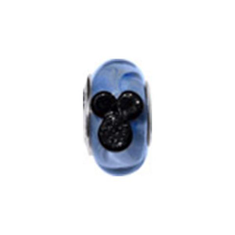 Disney Mickey Blue Murano Glass Bead - Centerville C&J Connection, Inc.