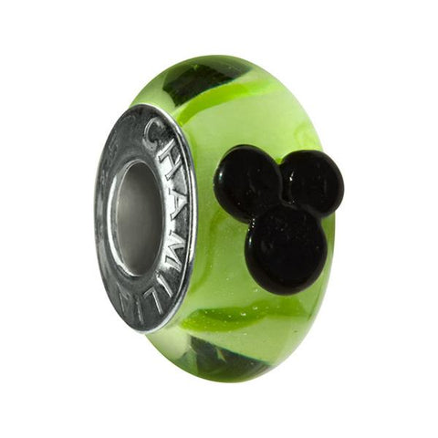 Disney Mickey Murano Green Glass Bead - Chamilia - Centerville C&J Connection, Inc.