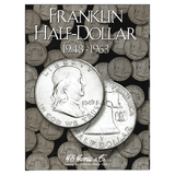 Franklin Half Dollar Starter Collection Kit, H.E. Harris [2695] Franklin Half Dollar Folder 1948-1963, Four Silver Halves, Magnifier & Checklist - Centerville C&J Connection, Inc.