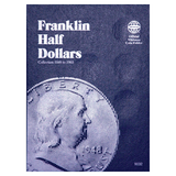 Franklin Half Dollar Starter Collection Kit, Whitman [9032] Franklin Half Dollar Folder 1948-1963, Four Silver Halves, Magnifier & Checklist - Centerville C&J Connection, Inc.