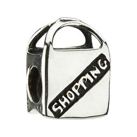 Silver Shopping Bag Bead - Chamilia - Centerville C&J Connection, Inc.