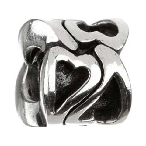 Silver Hearts Bead - Chamilia - Centerville C&J Connection, Inc.