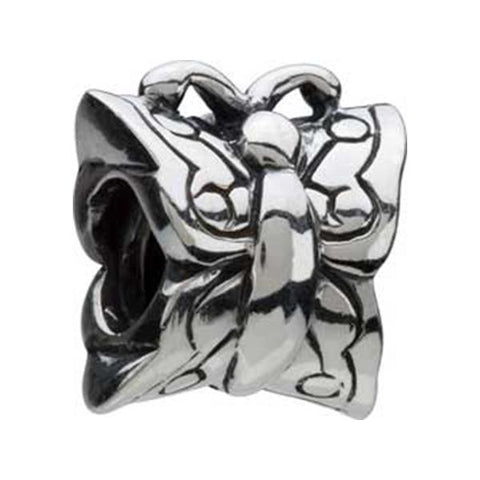 Silver Butterfly Bead - Centerville C&J Connection, Inc.