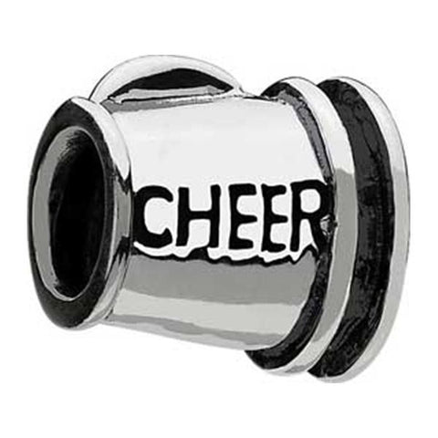 Silver Cheer Megaphone Bead - Chamilia - Centerville C&J Connection, Inc.