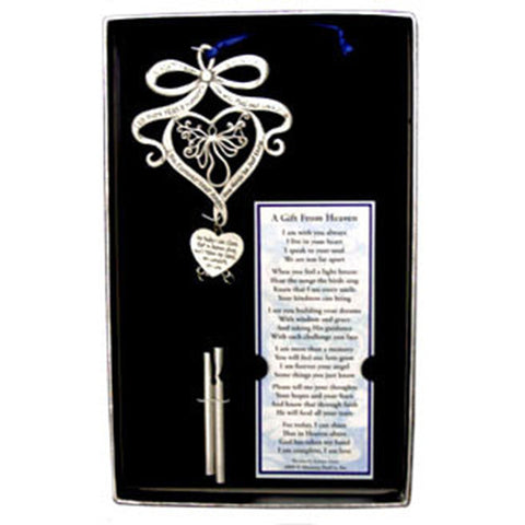 A Gift From Heaven  Pewter Wind Chime w/ Bookmark - Centerville C&J Connection, Inc.