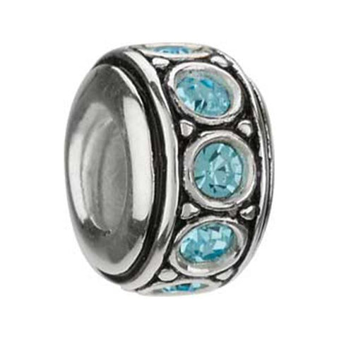 March Aquamarine Swarovski Wheel Bead - Centerville C&J Connection, Inc.