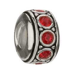 July Ruby Red Swarovski Wheel Bead - Centerville C&J Connection, Inc.