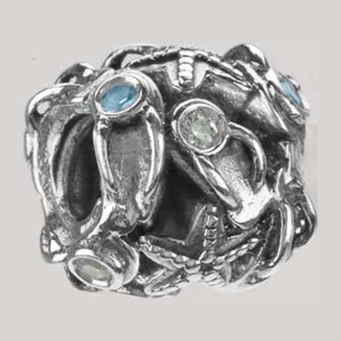 Silver/Stone Summer Collage Lt Blue & Clear CZ - Centerville C&J Connection, Inc.