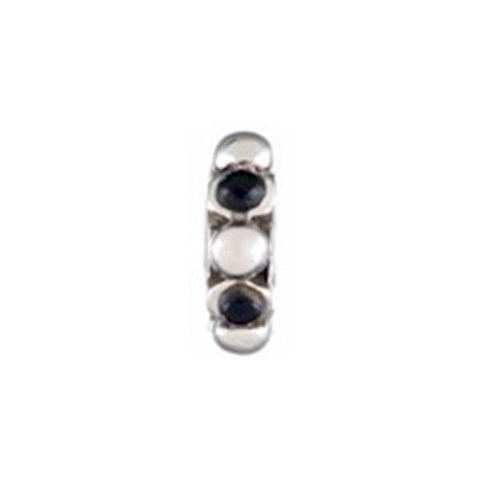 Silver Black Balls CZ Bead - Chamilia - Centerville C&J Connection, Inc.