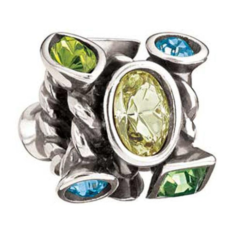 Silver Marquis Green Swarovski Bead - Chamilia - Centerville C&J Connection, Inc.