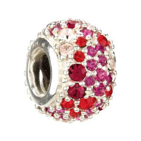 Jeweled Kaleidoscope Red Swarovski - Chamilia Bead - Centerville C&J Connection, Inc.