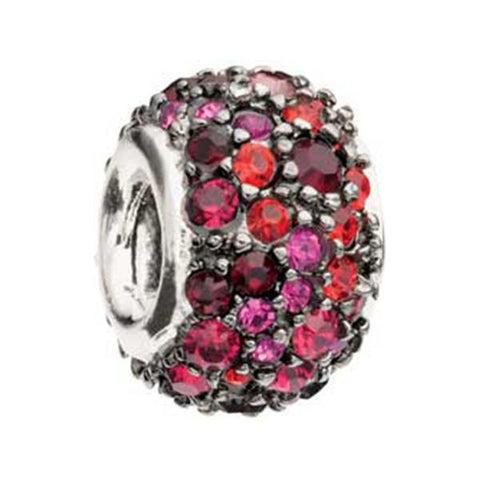 Jeweled Kaleidoscope Red Black Swarovski - Chamilia Bead - Centerville C&J Connection, Inc.