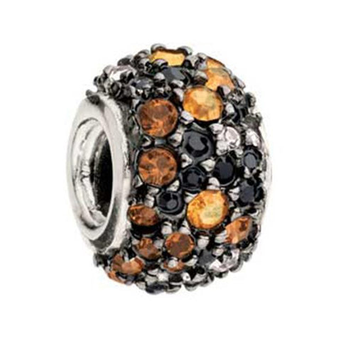 Jeweled Kaleidoscope Orange Black Swarovski - Chamilia - Centerville C&J Connection, Inc.