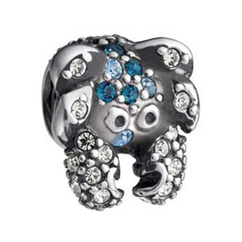 Silver Crab Multi Blue Swarovski Bead - Chamilia - Centerville C&J Connection, Inc.