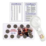 Jefferson Nickel Starter Collection Kit, Part One, H.E. Harris Folder, Complete Wartime Silver Nickel Set, Magnifier & Checklist - Centerville C&J Connection, Inc.