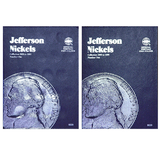Jefferson Nickel Starter Collection Kit, Part One, Whitman Folders, Complete Wartime Silver Nickel Set, Magnifier & Checklist - Centerville C&J Connection, Inc.