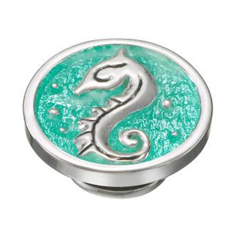 Kameleon Jewelry Silver Seahorse on Green JewelPop - Centerville C&J Connection, Inc.