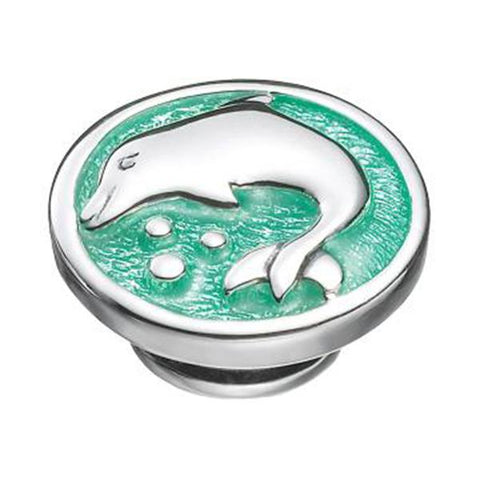 Kameleon Jewelry Silver Dolphin on Green JewelPop - Centerville C&J Connection, Inc.