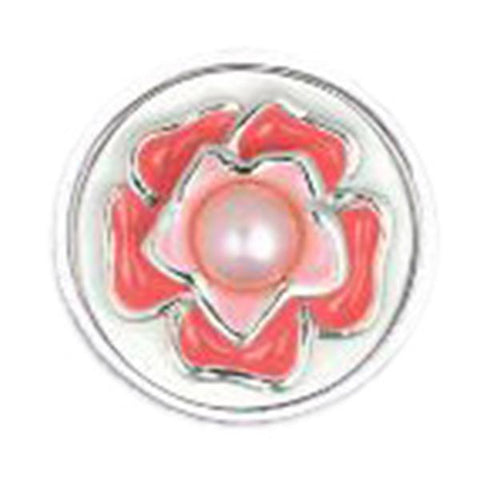 Enameled Red Flower with Pearl Center JewelPop - Centerville C&J Connection, Inc.