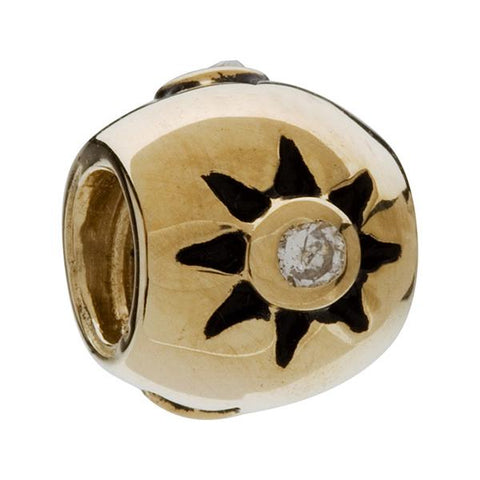 14K Yellow Gold Star CZ Bead - Chamilia - Centerville C&J Connection, Inc.