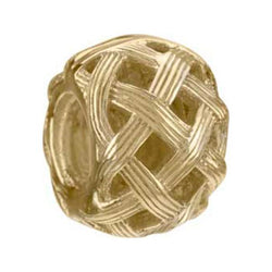 14K Yellow Gold Textured Weave Bead - Centerville C&J Connection, Inc.