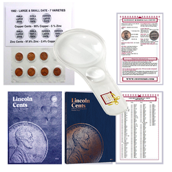Lincoln Penny Starter Collection Kit with 1982 Varieties, Two Whitman Folders, Magnifier & Checklist - Centerville C&J Connection, Inc.