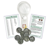 Silver Mercury Dime Starter Collection Kit, Ten Circulated Silver Mercury Dimes Magnifier & Checklist - Centerville C&J Connection, Inc.