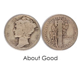 Mercury Dime - Winged Liberty Head - 1940 - 1945 - Centerville C&J Connection, Inc.